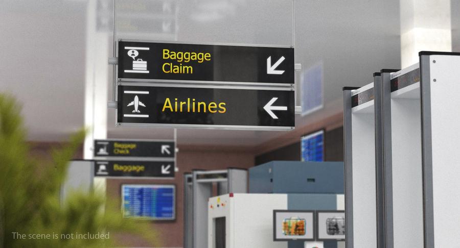Airport tekenen bagage claim luchtvaartmaatschappijen 3D-model royalty-free 3d model - Preview no. 3