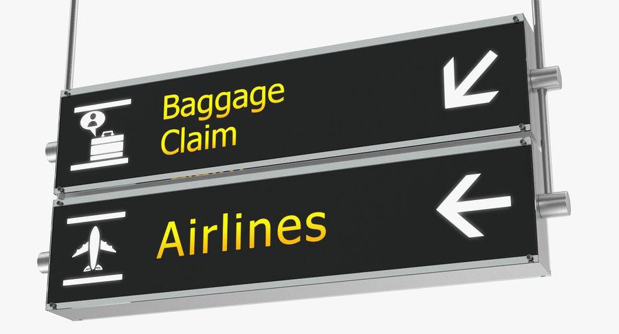 Airport tekenen bagage claim luchtvaartmaatschappijen 3D-model royalty-free 3d model - Preview no. 4