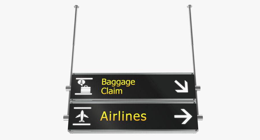 Airport tekenen bagage claim luchtvaartmaatschappijen 3D-model royalty-free 3d model - Preview no. 2