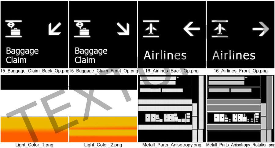 Airport tekenen bagage claim luchtvaartmaatschappijen 3D-model royalty-free 3d model - Preview no. 12
