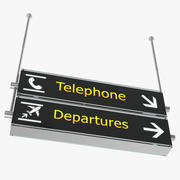 Luchthaven tekenen telefoon vertrek 3D-model 3d model