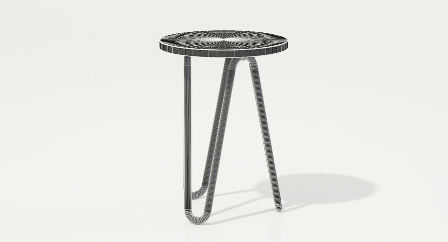 Wood and Metal Stool royalty-free 3d model - Preview no. 11