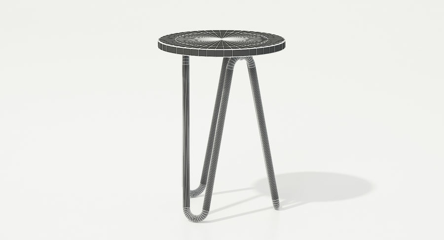 Wood and Metal Stool royalty-free 3d model - Preview no. 9