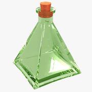 Стеклянная бутылка пирамиды 3d model