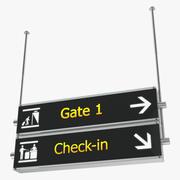 Проверка знаков в аэропорту 3d model
