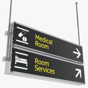 Luchthaven tekenen medische kamerdiensten 3D-model 3d model
