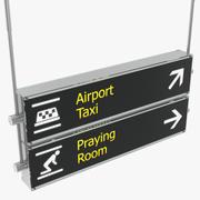 Luchthaven tekenen taxi bidden kamer 3D-model 3d model