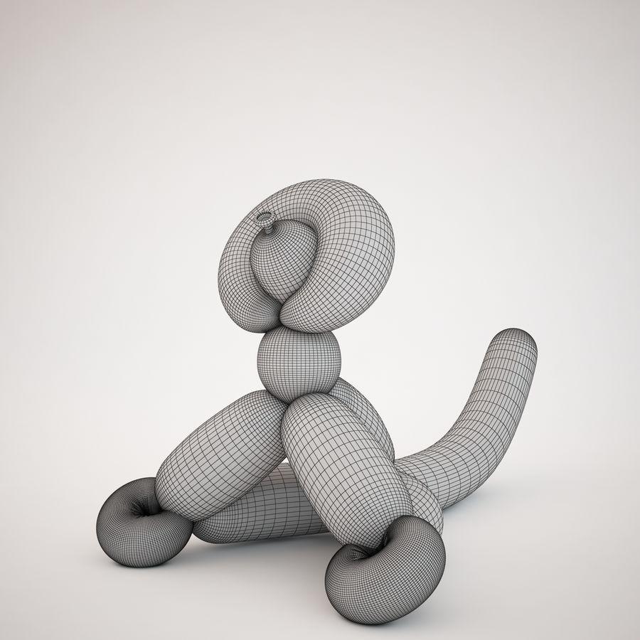 Jeff Koons Balloon Monkey royalty-free 3d model - Preview no. 5