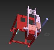 Linia do montażu płytek drukowanych. 3d model