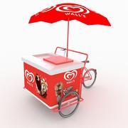 Тележка для мороженого 3d model