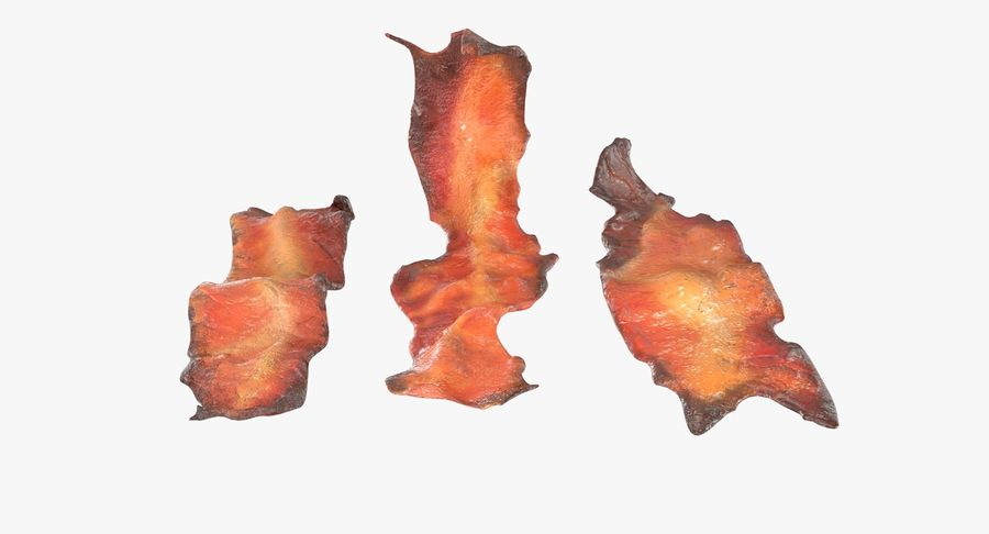 Bacon Cook - fried royalty-free 3d model - Preview no. 3