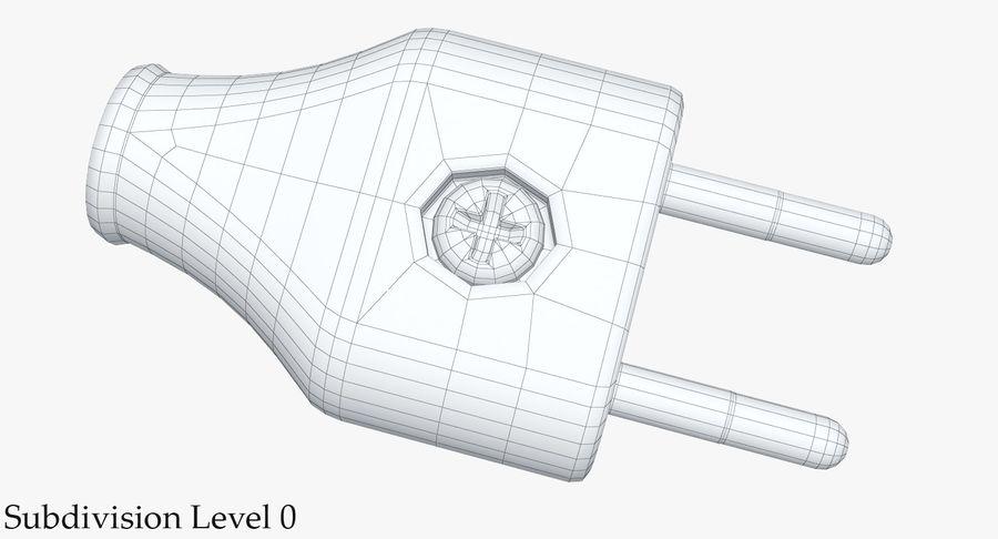 Штекер питания 5 royalty-free 3d model - Preview no. 12
