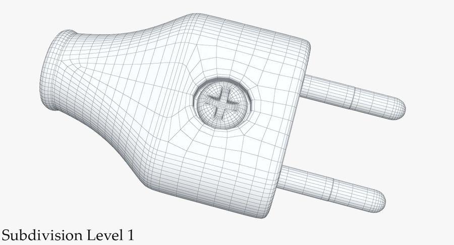 Штекер питания 5 royalty-free 3d model - Preview no. 13