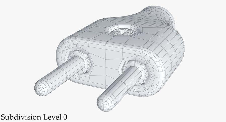 Штекер питания 5 royalty-free 3d model - Preview no. 18