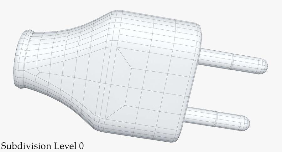 Штекер питания 5 royalty-free 3d model - Preview no. 16