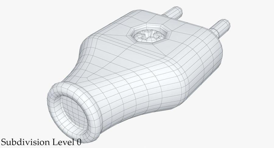 Штекер питания 5 royalty-free 3d model - Preview no. 14