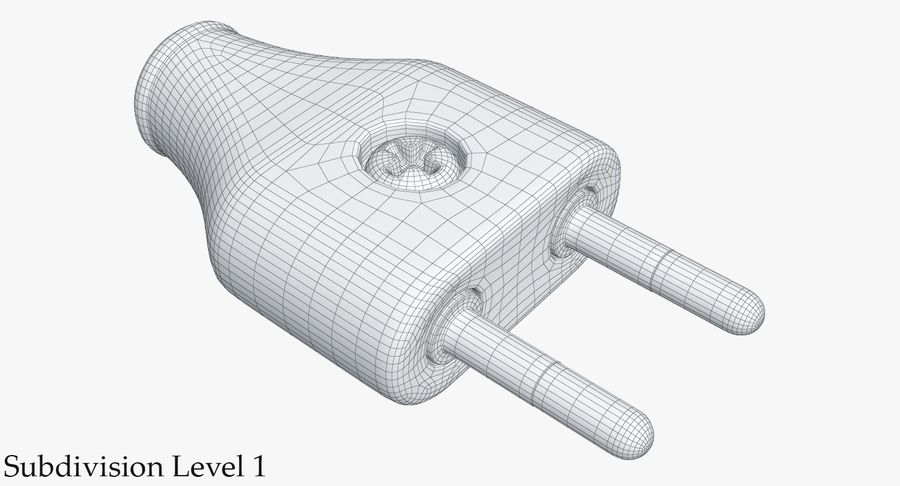 Штекер питания 5 royalty-free 3d model - Preview no. 11
