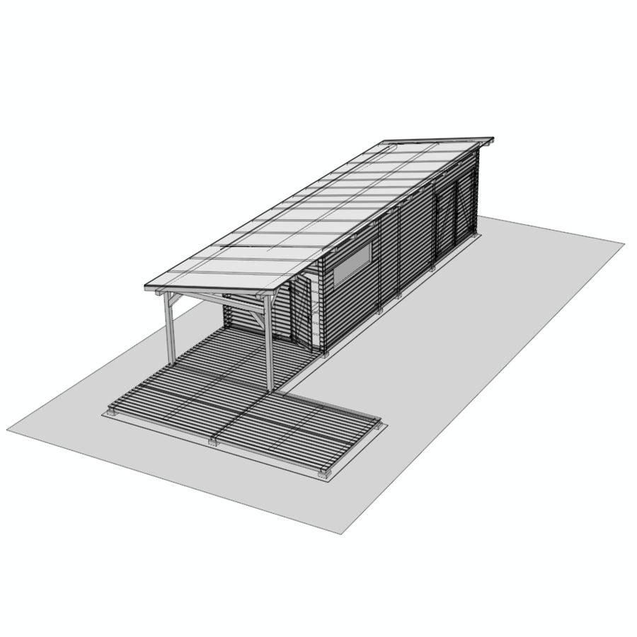 정원 나무 오두막 royalty-free 3d model - Preview no. 10