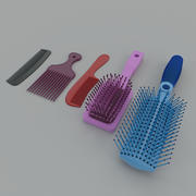 Comb and brush 3d model
