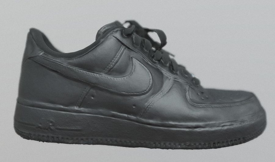 Nike AF1 royalty-free 3d model - Preview no. 2