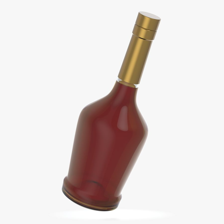 alcohol glass bottle royalty-free 3d model - Preview no. 2