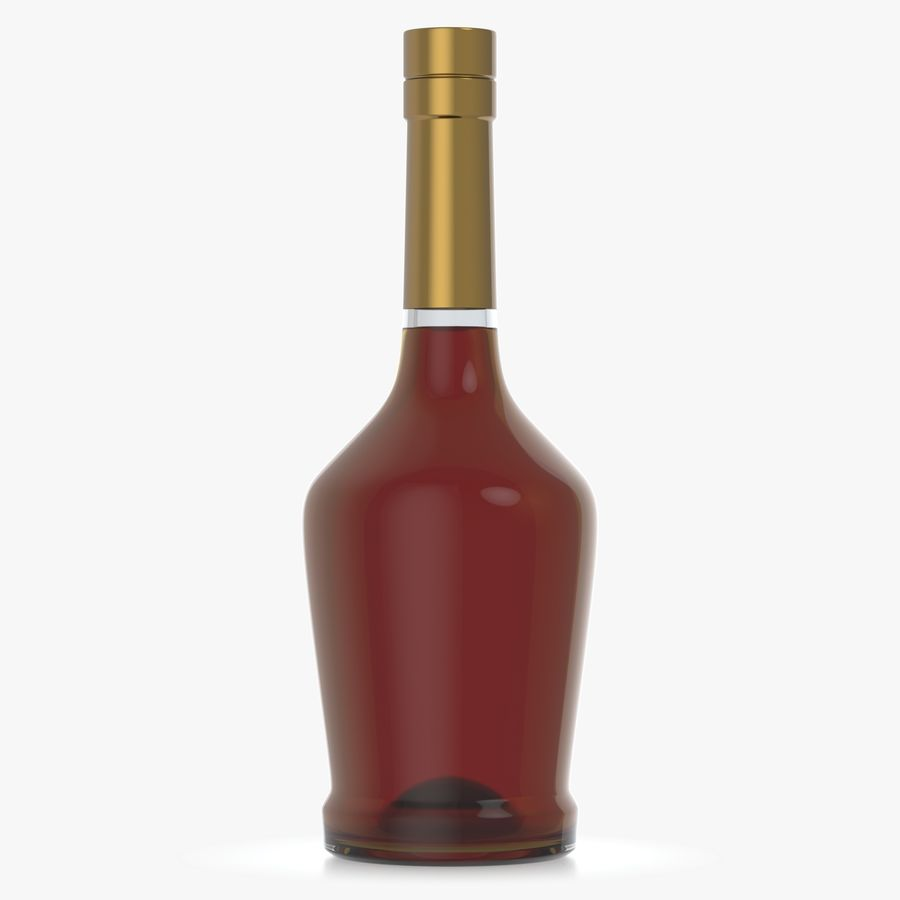 alcohol glass bottle royalty-free 3d model - Preview no. 1