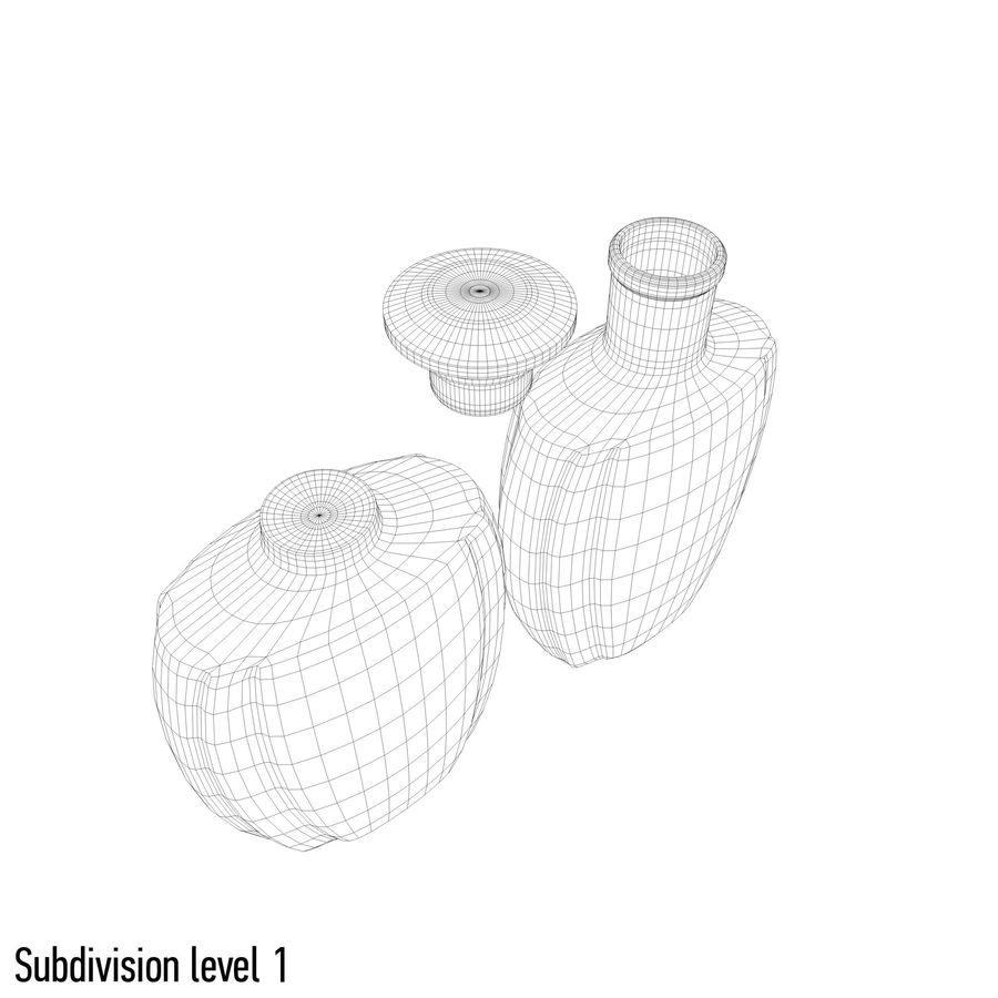 alcohol glass bottle (4) royalty-free 3d model - Preview no. 10