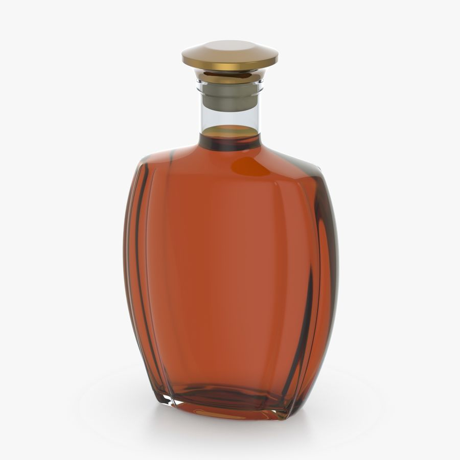 alcohol glass bottle (4) royalty-free 3d model - Preview no. 6
