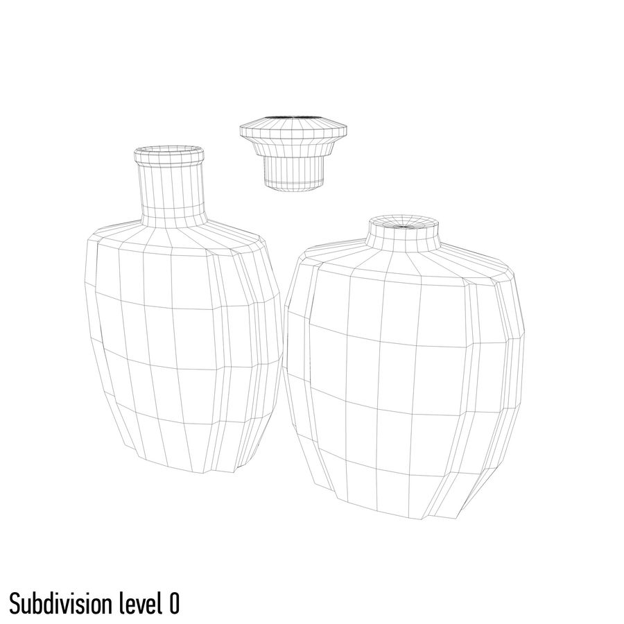 alcohol glass bottle (4) royalty-free 3d model - Preview no. 7