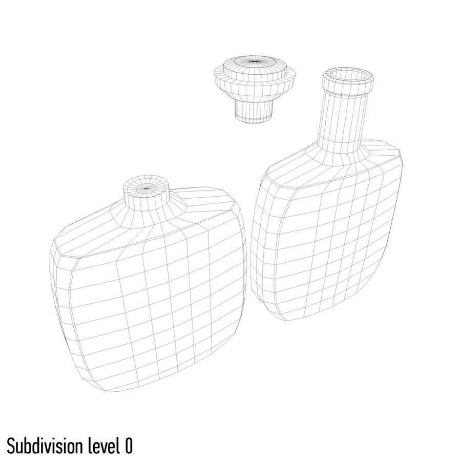 アルコールガラス瓶(5) royalty-free 3d model - Preview no. 9