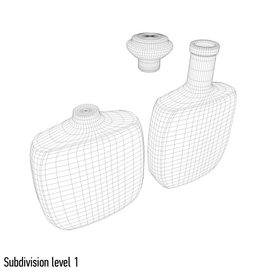 アルコールガラス瓶(5) royalty-free 3d model - Preview no. 10