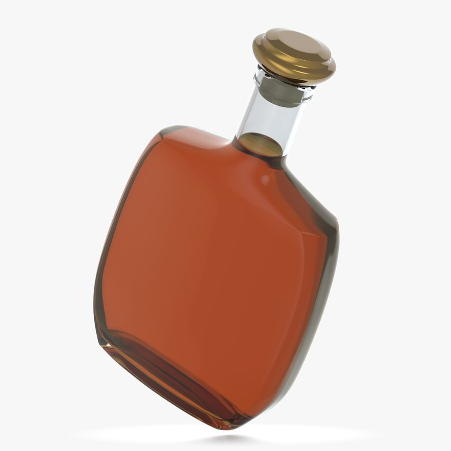 アルコールガラス瓶(5) royalty-free 3d model - Preview no. 1