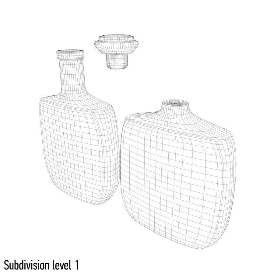 アルコールガラス瓶(5) royalty-free 3d model - Preview no. 8