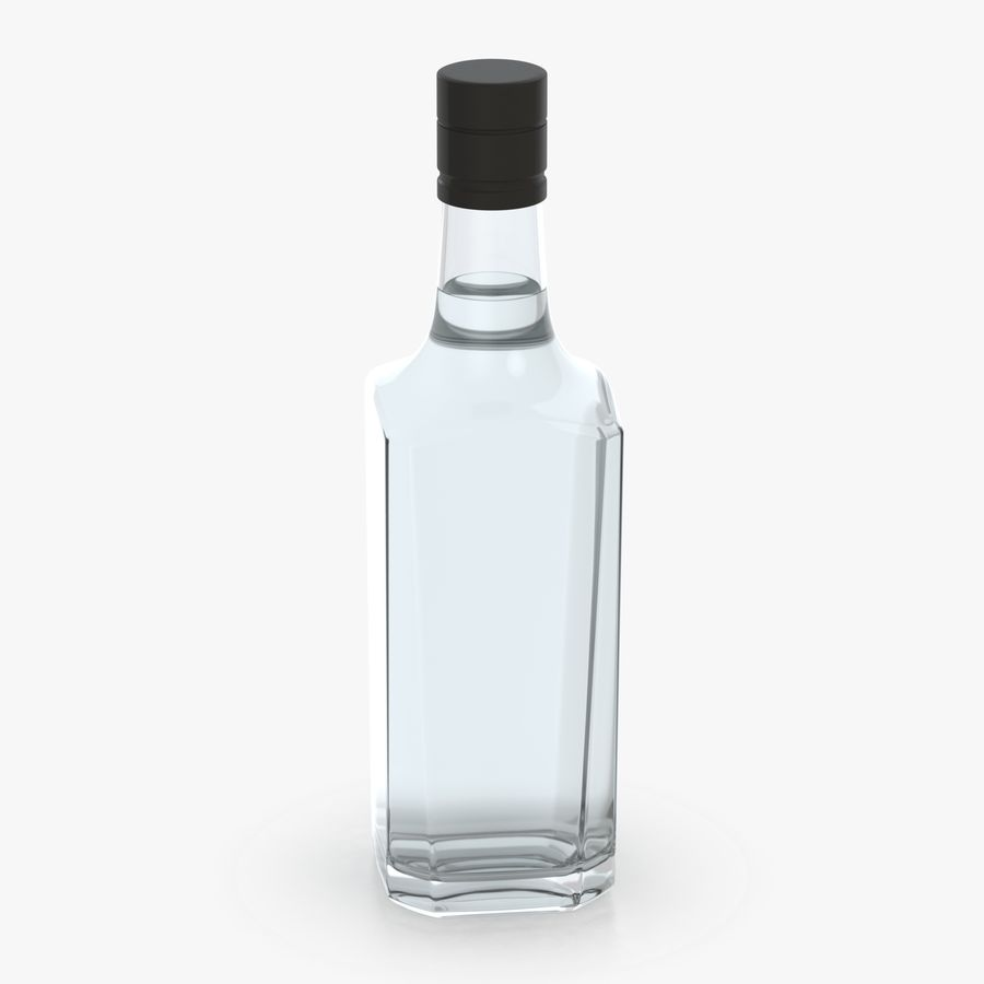 alcohol glass bottle (7) royalty-free 3d model - Preview no. 7
