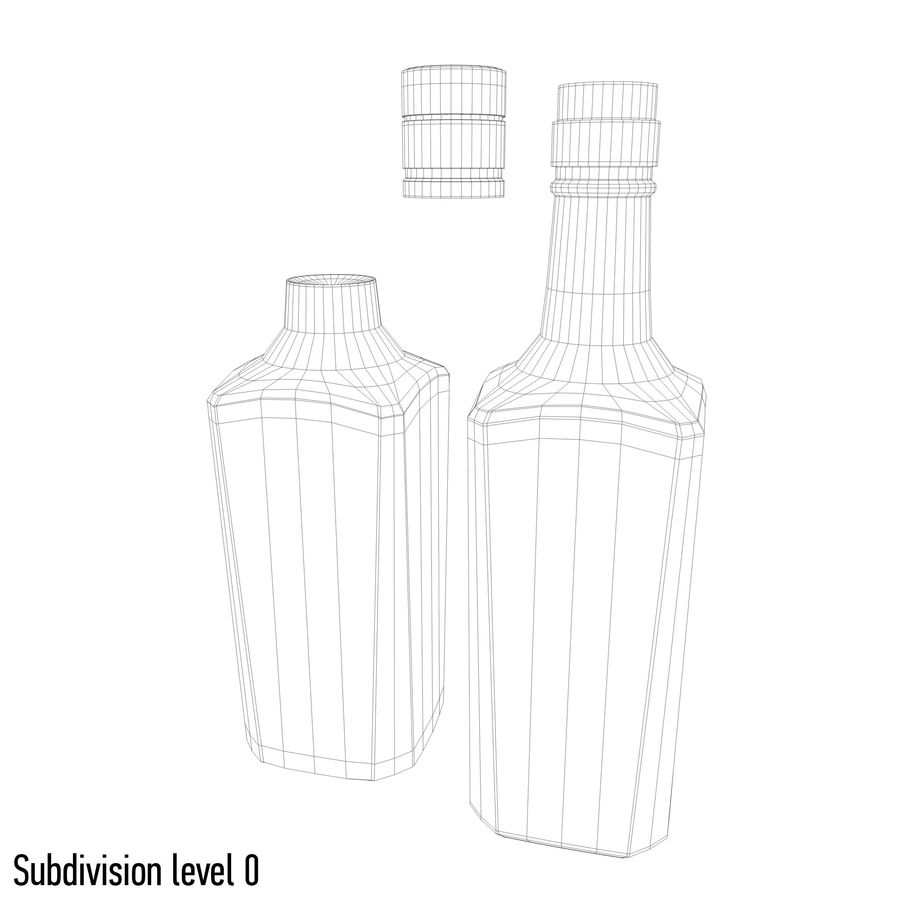 alcohol glass bottle (7) royalty-free 3d model - Preview no. 10