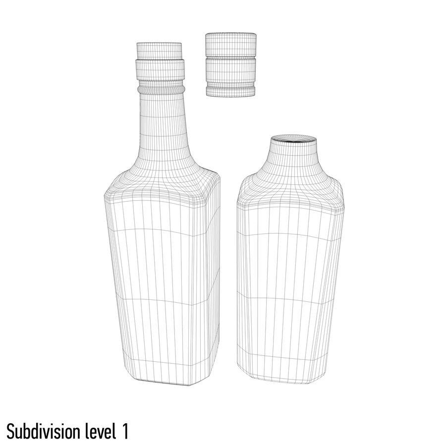 alcohol glass bottle (7) royalty-free 3d model - Preview no. 9