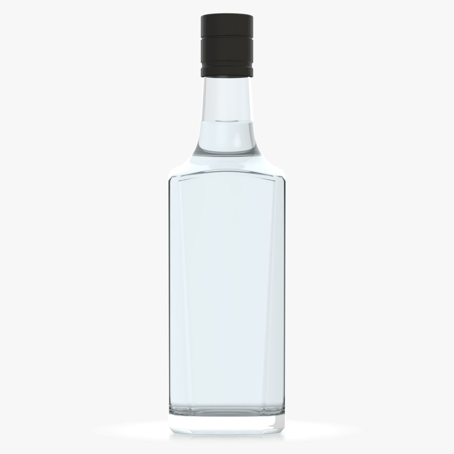 alcohol glass bottle (7) royalty-free 3d model - Preview no. 2