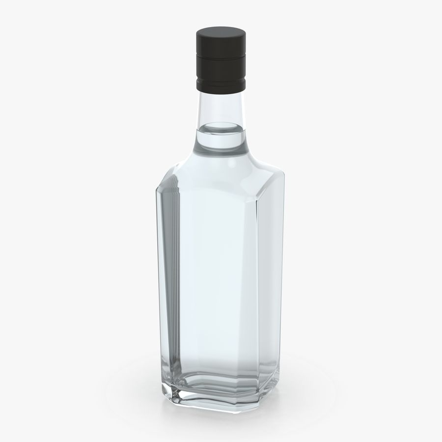 alcohol glass bottle (7) royalty-free 3d model - Preview no. 6