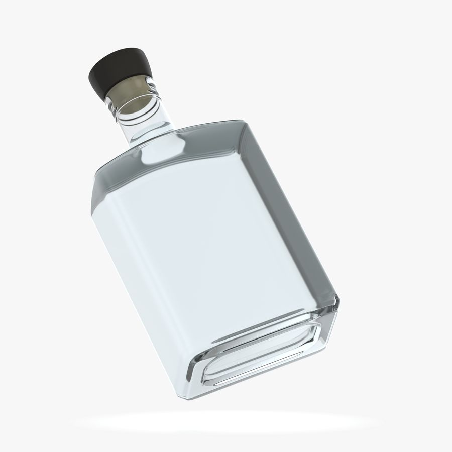 alcohol glass bottle (8) royalty-free 3d model - Preview no. 1