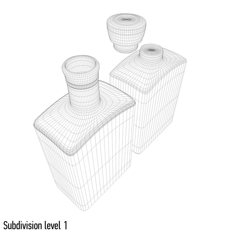 alcohol glass bottle (8) royalty-free 3d model - Preview no. 10