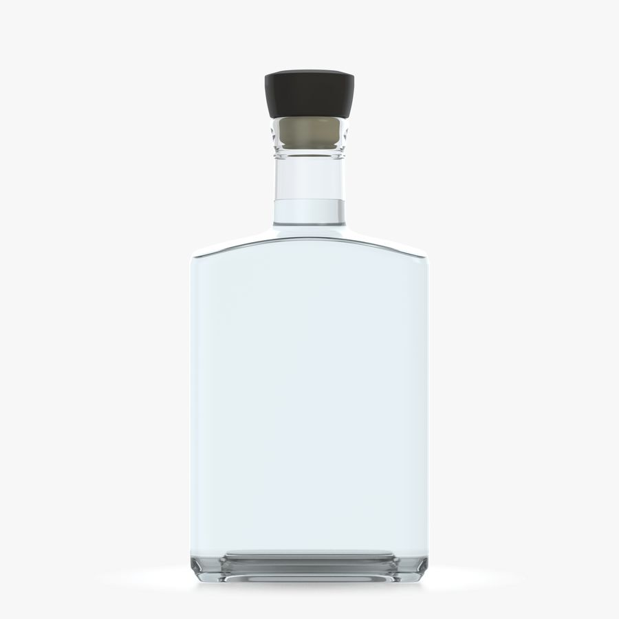 alcohol glass bottle (8) royalty-free 3d model - Preview no. 2