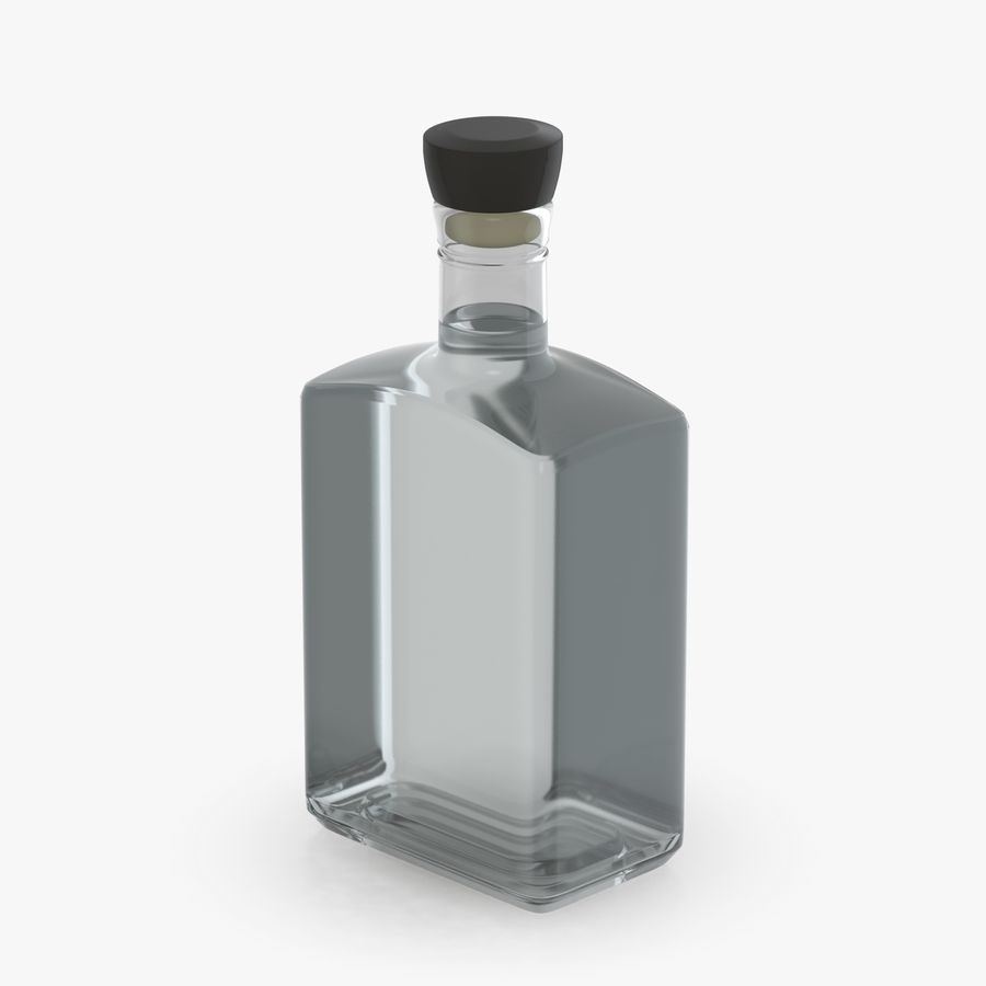 alcohol glass bottle (8) royalty-free 3d model - Preview no. 6