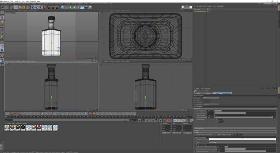 alcohol glass bottle (8) royalty-free 3d model - Preview no. 11