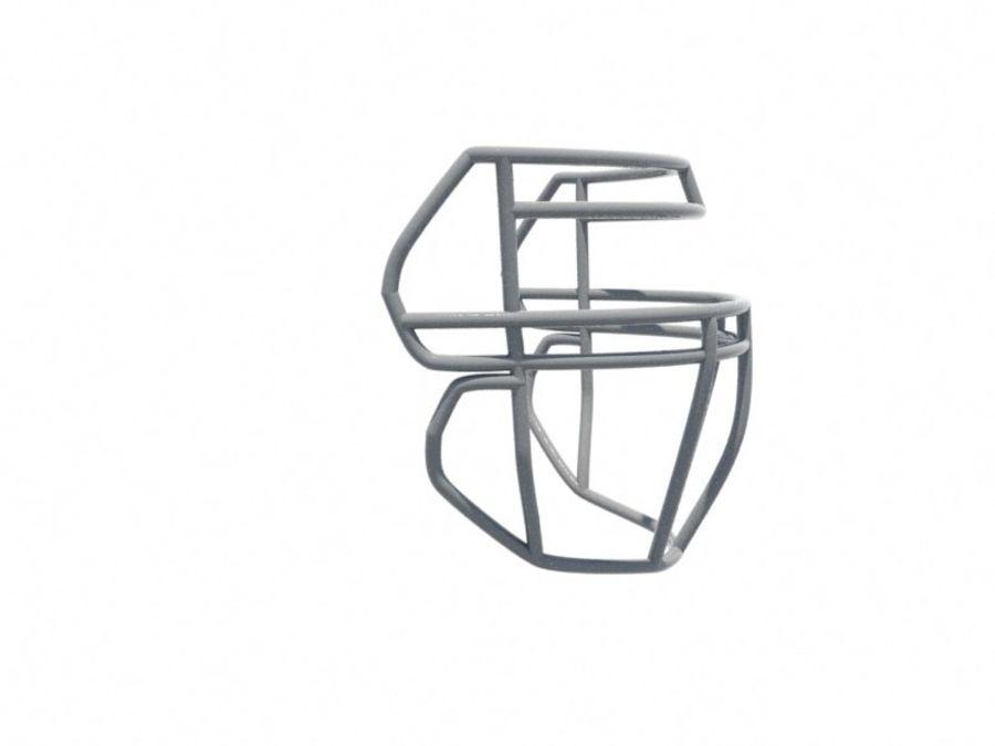 Máscara facial de futebol royalty-free 3d model - Preview no. 3