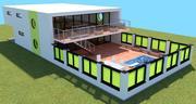 Havuzlu modern ev (DAZ Studio için) 3d model