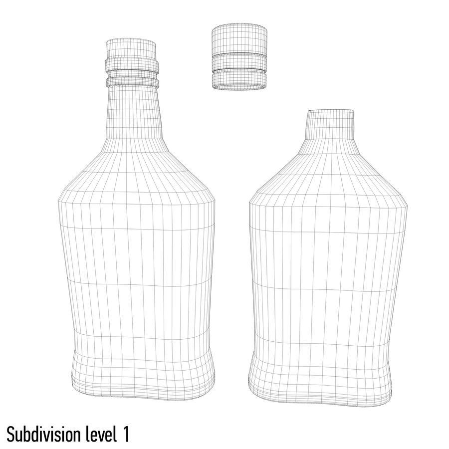 アルコールボトル(5) royalty-free 3d model - Preview no. 8
