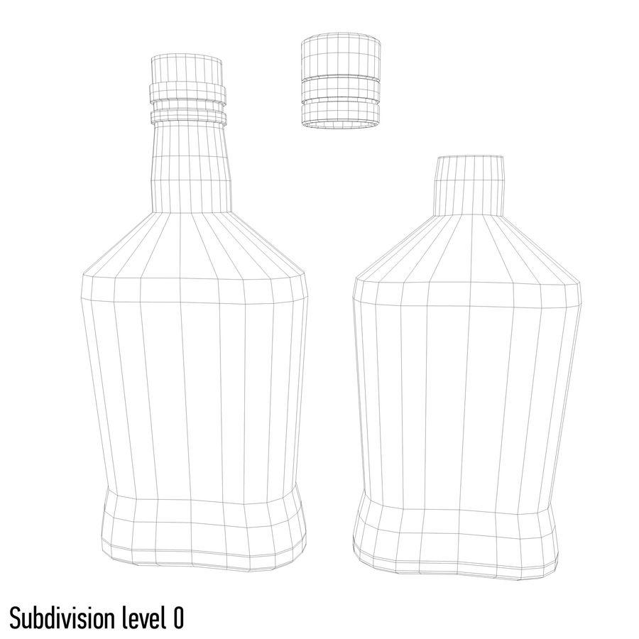 アルコールボトル(5) royalty-free 3d model - Preview no. 7