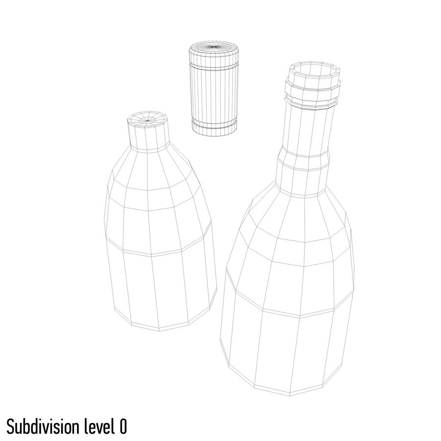 alcohol bottle (13) royalty-free 3d model - Preview no. 8