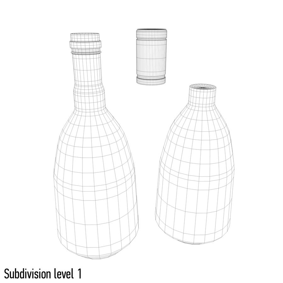 alcohol bottle (13) royalty-free 3d model - Preview no. 7