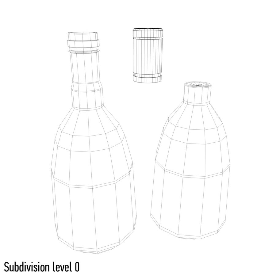 alcohol bottle (13) royalty-free 3d model - Preview no. 6